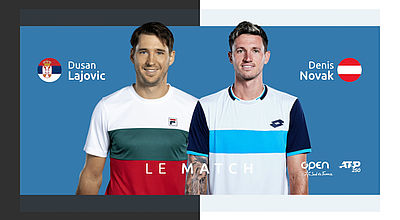 Replay : Dusan LAJOVIC (SRB) vs Dennis NOVAK - 8ème de finale de l'Open Sud de France