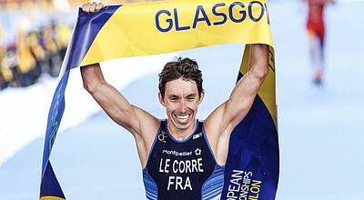 Pierre Le Corre champion d'Europe de triathlon