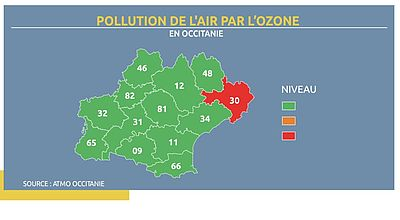 Episode de pollution atmosphérique à l'ozone