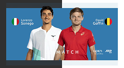 Replay : L. Sonego (ITA) vs D. Goffin (BEL) - Quart de finale de l'Open Sud de France