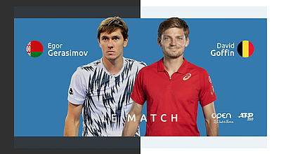 Replay : E. Gerasimov (BLR) vs  D. Goffin (BEL) - Demi-Finale